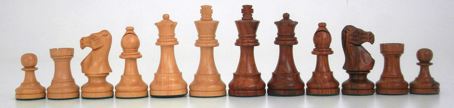 Chess Pieces – Golden Rosewood