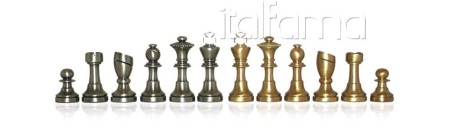 Chess Pieces -Solid Brass, Staunton Piccolo