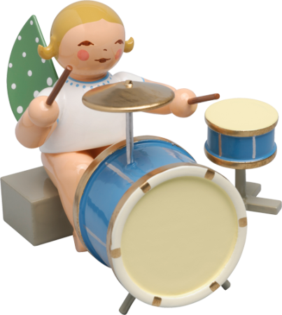 Angel With 2 Piece Percussion
