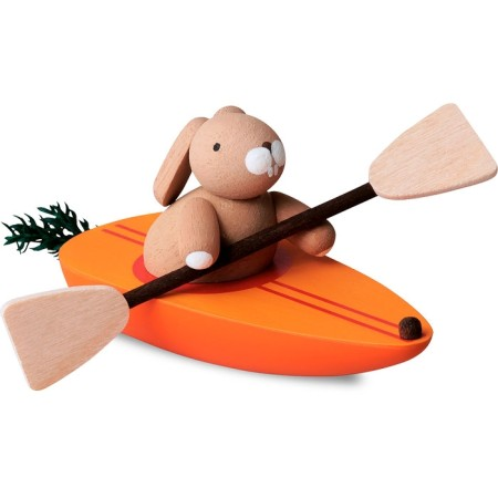 Bunny In Carrot Canoe