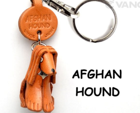Leather Key Chain – Afghan Hound