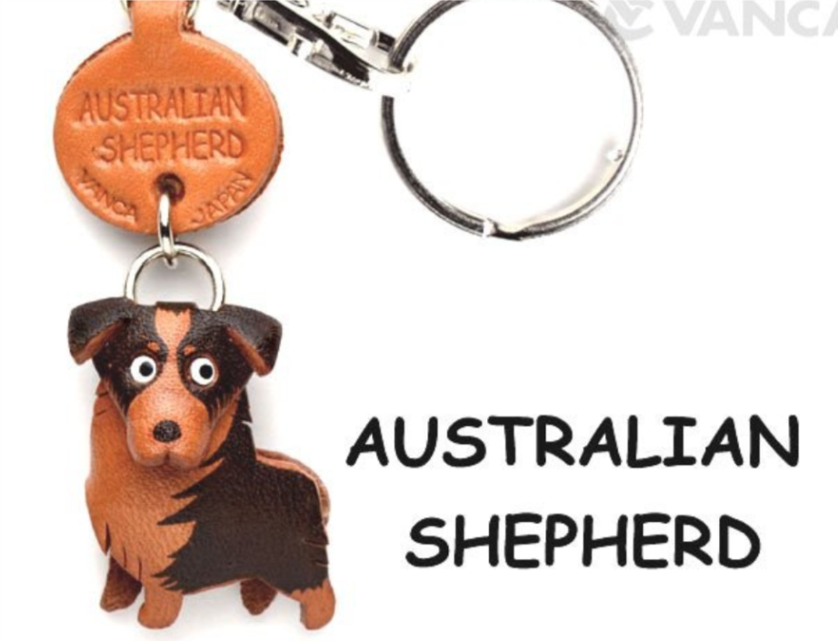 Leather Key Chain – Australian Shepherd