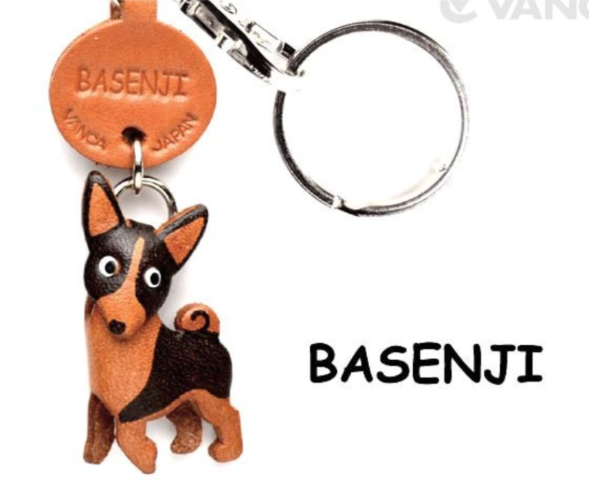 Leather Key Chain – Basenji