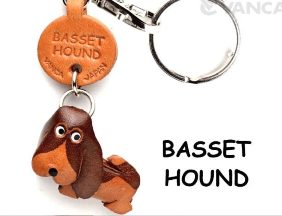 Leather Key Chain – Basset Hound