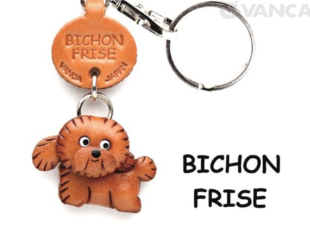 Leather Key Chain – Bichon Frise