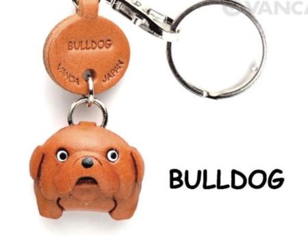 Leather Key Chain – Bulldog