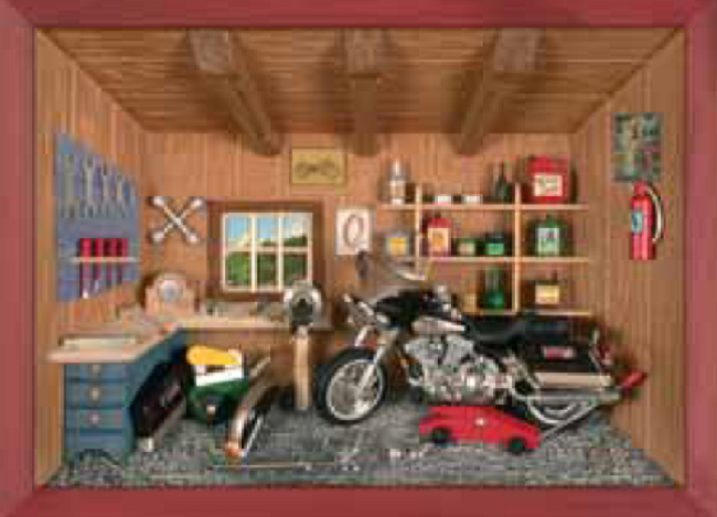3D Picture Frame – Motorcycle Workshop