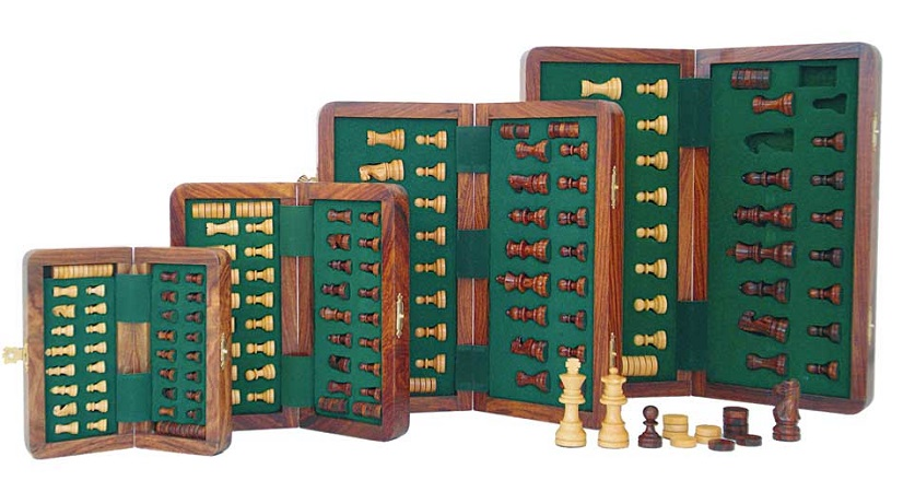 Magnetic Folding Chess & Checkers Set