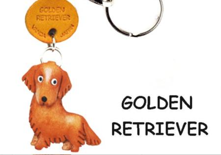 Leather Key Chain – Golden Retriever