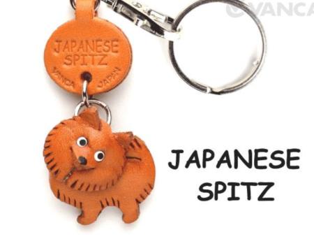 Leather Key Chain – Japanese Spitz