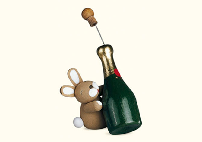 Bunny With Champagne