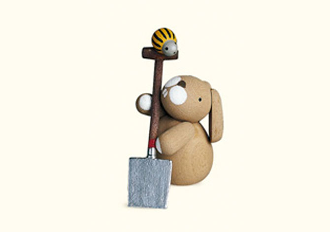 Bunny With Spade