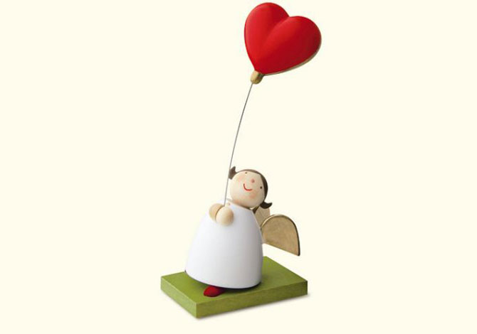 Angel With Heart Shaped Balloon