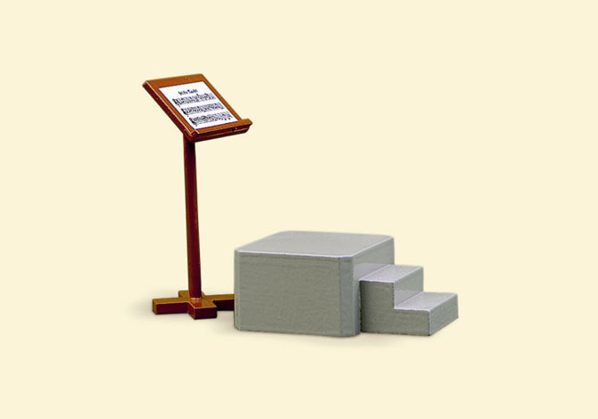 Song Book Stand & Podium