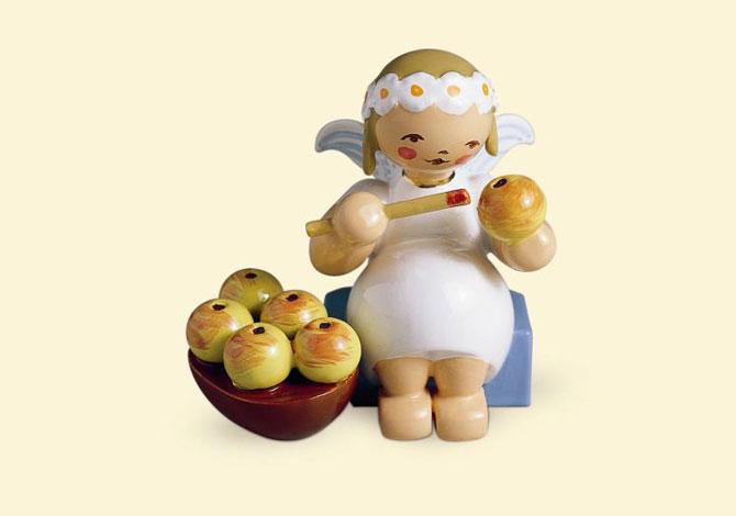 Marguerite Angel Sitting With Apple Basket