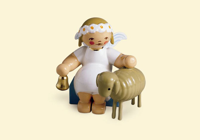 Marguerite Angel Sitting With Lamb