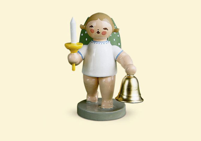 Angel With Bell And Candle