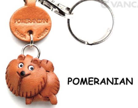 Leather Key Chain – Pomeranian