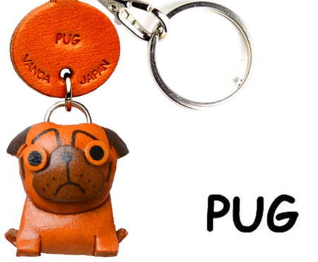Leather Key Chain – Pug