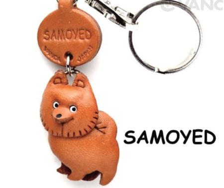 Leather Key Chain – Samoyed
