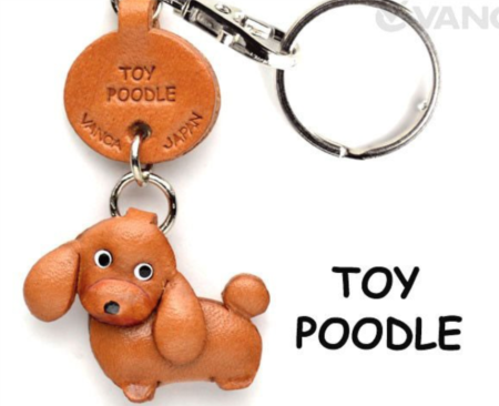 Leather Key Chain – Toy Poodle