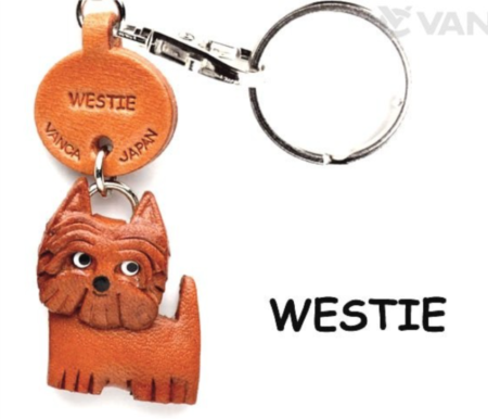Leather Key Chain – Westie