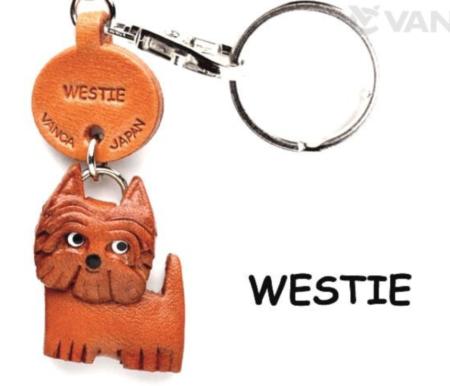 Leather Key Chain – Westie
