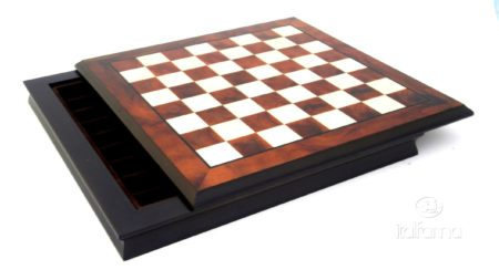 Chess Board – Wood; Hand Inlaid