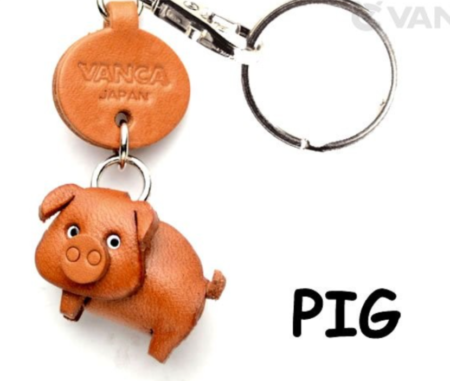 Leather Key Chain – Pig