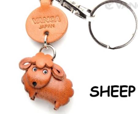 Leather Key Chain – Sheep