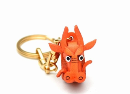Leather Key Chain – Dragon