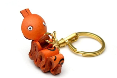 Leather Key Chain – Snake