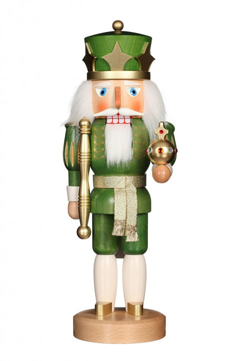 Nutcracker – King Green/Gold Glazed