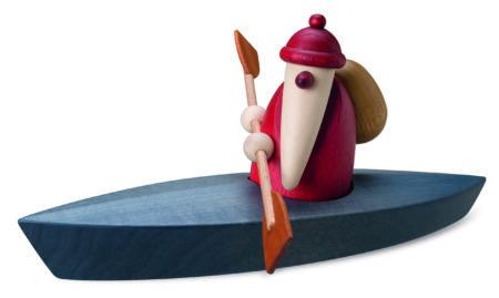 Santa With Paddle Boat
