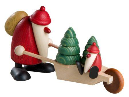 Santa With Wheelbarrow And Child